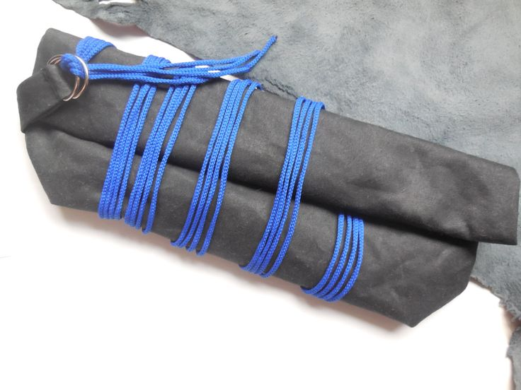 Black Clutch Bag Black and Blue Clutch Bag - Waxed Cotton Handbag - Wrapped Cord Clutch Bag - Womens Handbag - Eveningbag by DesignArtJoy on Etsy