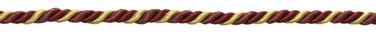 """12 Yard Value Pack of Small WINE GOLD Baroque Collection 3/16"""" Decorative Cord Without Lip Style# 316BNLPK Color: AUTUMN LEAVES - 5716 (36 Ft / 11M)"""
