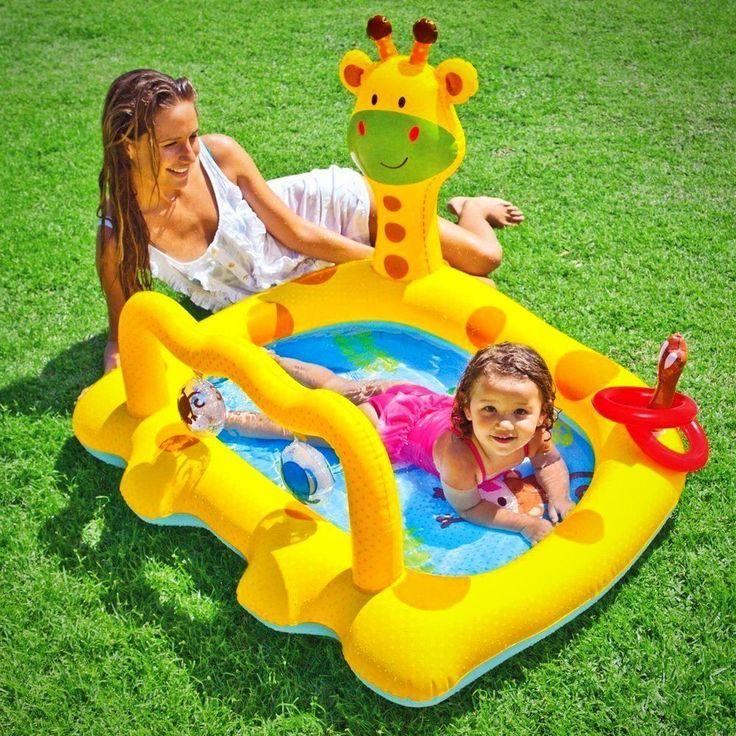 Baby Splash Paddle Pool Infant Giraffe Water Play Center Toys Garden Beach Fun #BabySplashPaddlePool