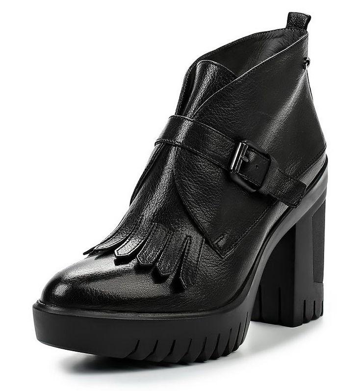 Осень 2016. Модная женская обувь - ботильоны на каблуке