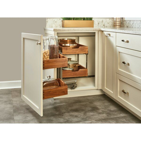 Blind Corner Cabinet Organizer Pull Out Pantry In 2021 Corner Kitchen Cabinet Blind Corner Cabinet Kitchen Cabinets