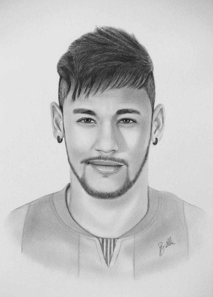 Neymar Jr. Drawing By Sergio Batlle #Barcelona_FC #Baru00e7a #Barcelona | Portraits Drawings ...
