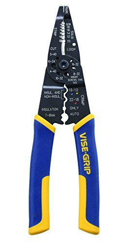 IRWIN Tools VISE-GRIP Multi Tool Stripper, Cutter and Crimper, 8-Inch (2078309) Irwin Tools http://smile.amazon.com/dp/B000JNNWQ2/ref=cm_sw_r_pi_dp_NrUSvb18Z8G1A