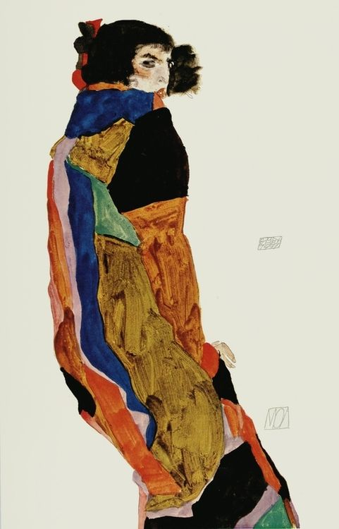 "Egon Schiele, Dancer ""Moa"", 1911 otra mujer del pintor vienes EGON SHIELE"