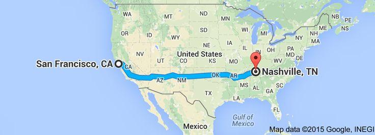 From: San Francisco, CA, USA To: Nashville, TN, USA