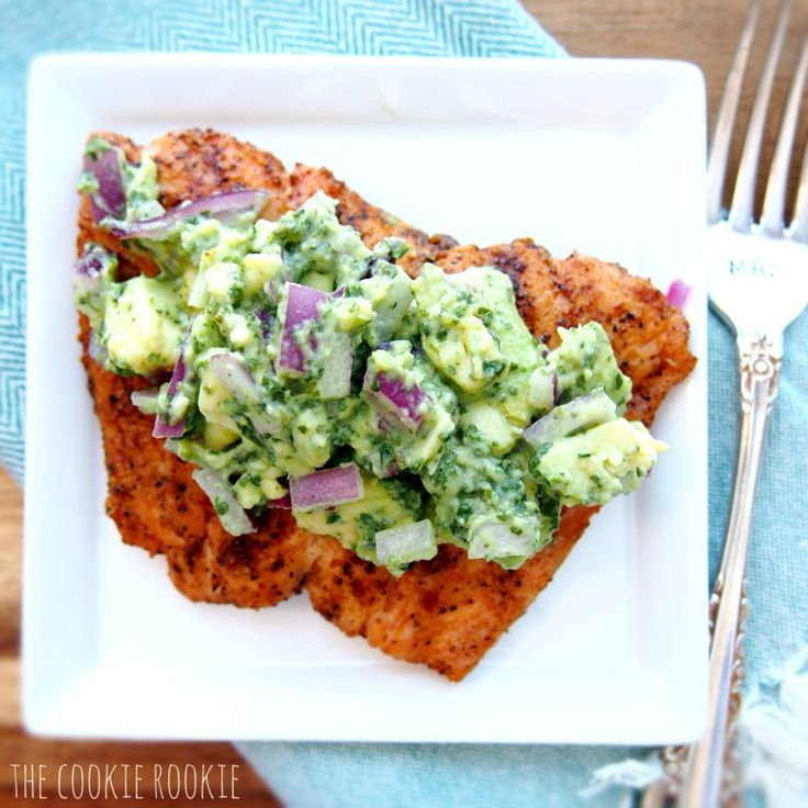 grilled salmon with avocado salsa.: Grilled Salmon, Avocado Salad, Avocado Salsa, Red Onions, Avocadosalsa, Whole30 Approv, Salsa Recipes, Digital Camera, Salmon Recipes