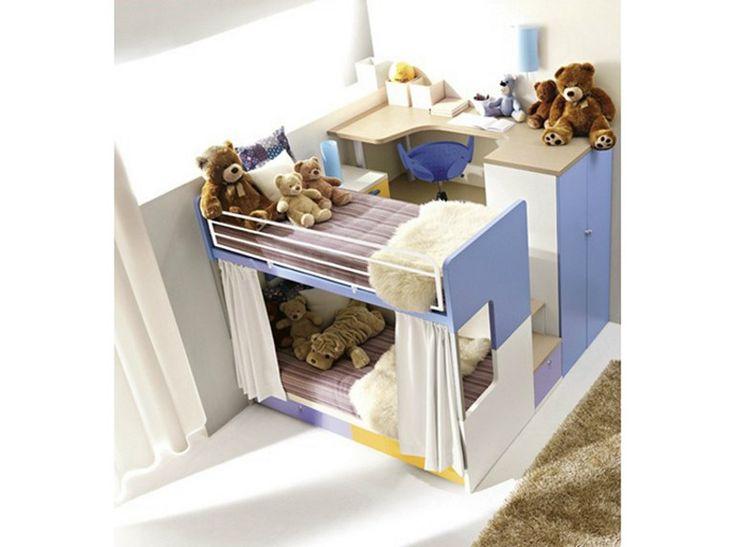 Cameretta a soppalco con letti a castello per bambini 908 | Cameretta - Doimo CityLine