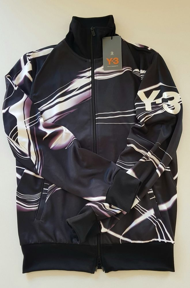 Bold Lightning Print Poly Stretch Material Finished With A Printed Y 3 Logo Product Code X3a Ap2344 Ebay Clothes Fashion Jacket Tops