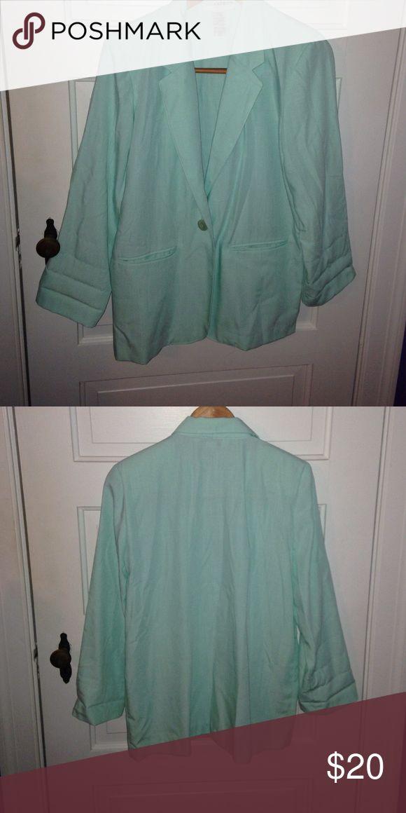 Mint green blazer Gorgeous blazer. Great condition. Sag Harbor Jackets & Coats Blazers