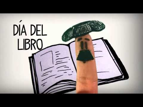▶ Saint George, San Jorge, 23rd of April, the Rose and the Book - Learn Spanish Culture - YouTube