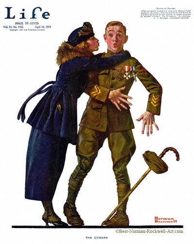 1919-04-10 Life Magazine. Norman-Rockwell. The-Coward
