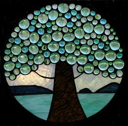 bubble tree mosaic idea