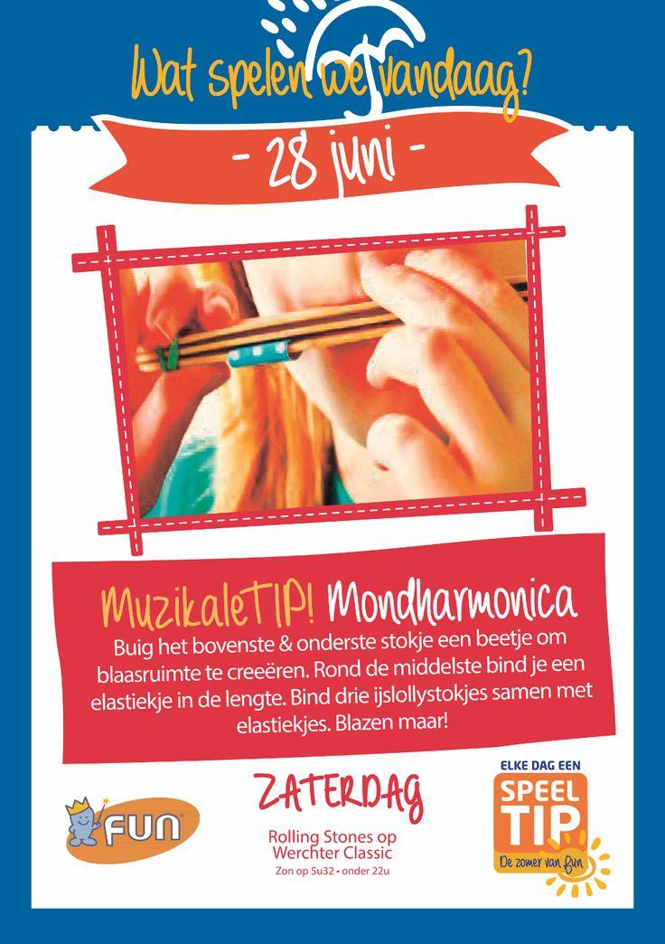 Maak zelf je mondharmonica. Klik op de afbeelding voor alle info!