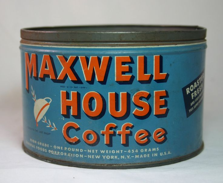 Vintage Coffee Can...Maxwell House...Good to the last drop!