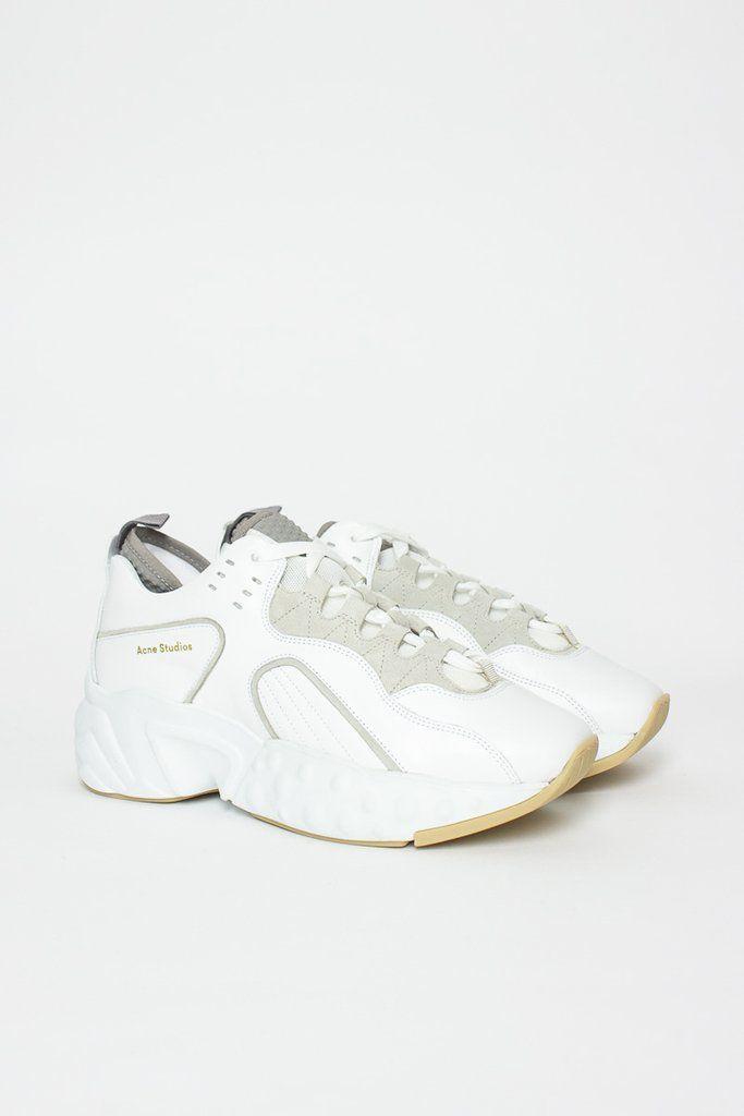 c846f69ad9c Manhattan White Sneaker in 2019   Statement Sneakers   Sneakers, Acne  studios, Manhattan