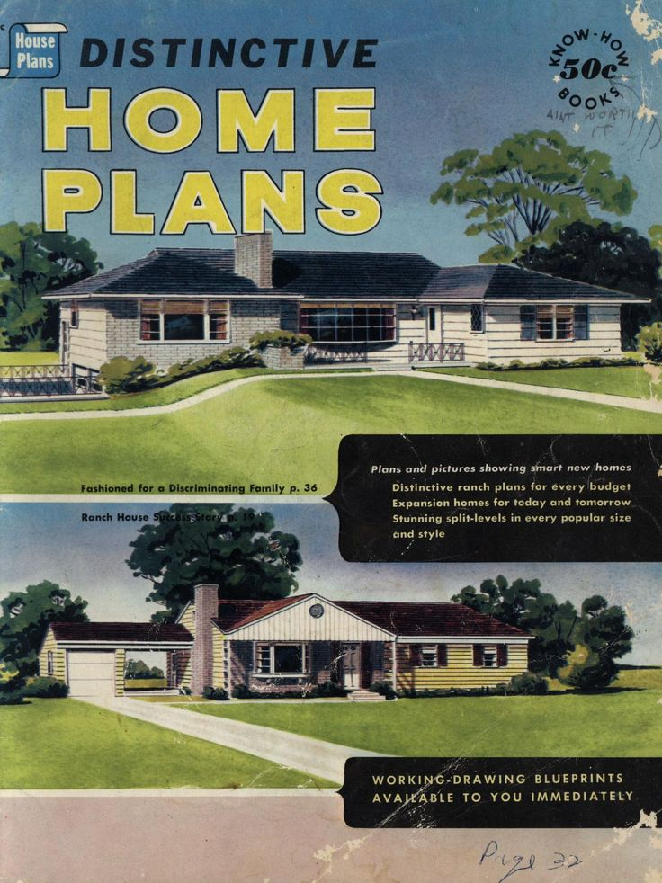 16 best 1950s house plan books images on pinterest vintage homes distinctive home plans house plan headquarters inc free download borrow and streaming malvernweather Gallery