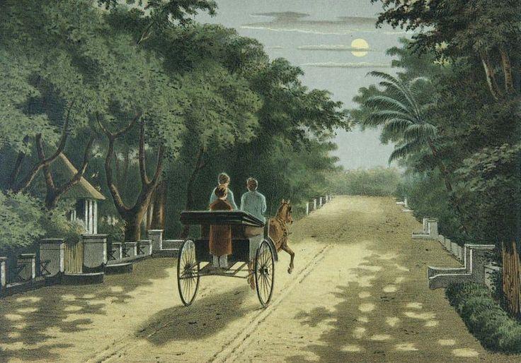 Lithograph by Josias Cornelis Rappard (1824-1898)