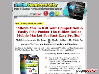 Mobile Banner Creator - Point & Click Your Way To Mobile Optimized Banners