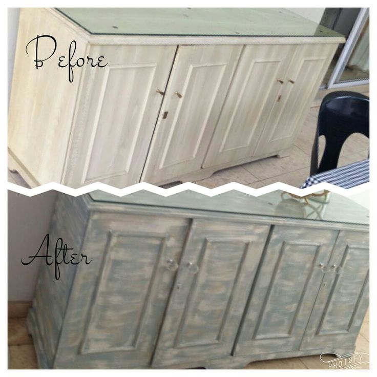 Side board revamp with chalk paint