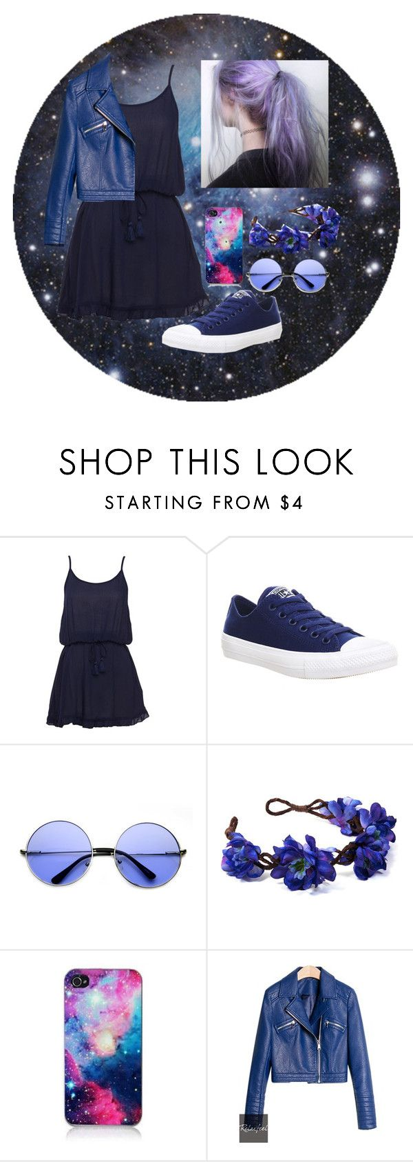 """Love Me"" by thaisa-tcs ❤ liked on Polyvore featuring B. Ella, Converse, Retrò, women's clothing, women, female, woman, misses and juniors"