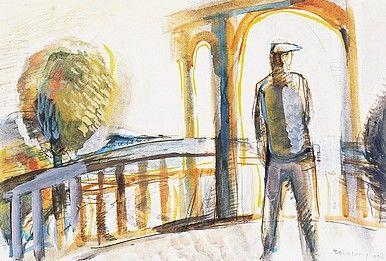 Egry József Kilátás a Balatonra című képe