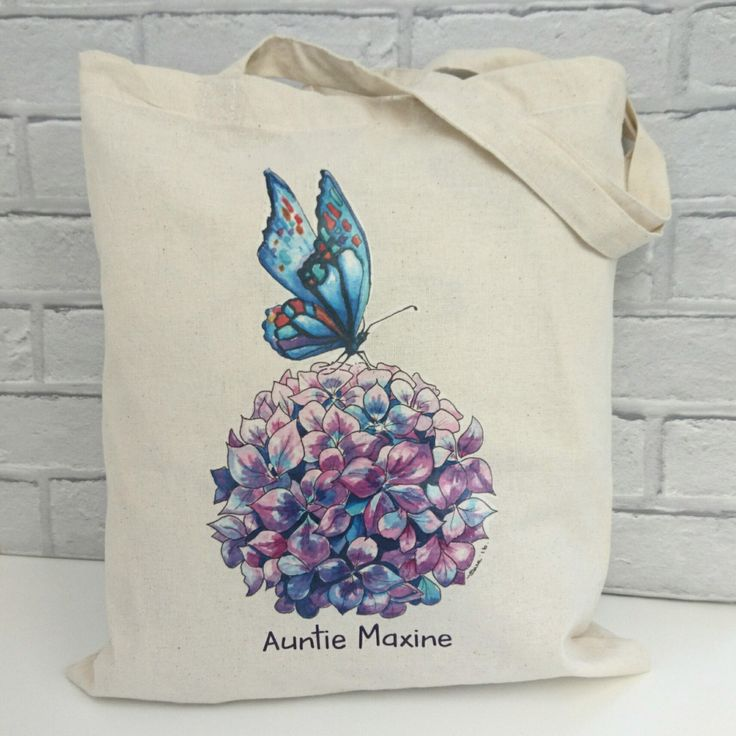 Butterfly Art Tote Bag. Eco Friendly Bag. Original Artist Tote Bag. Book Bag. Shopping Bag. Flower Tote bag. by SueRocheIllustration on Etsy