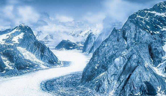 Hory, Pohoří, Sníh, Zima, Aljaška