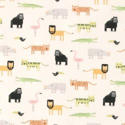 Bomull natur m digitala vilda djur