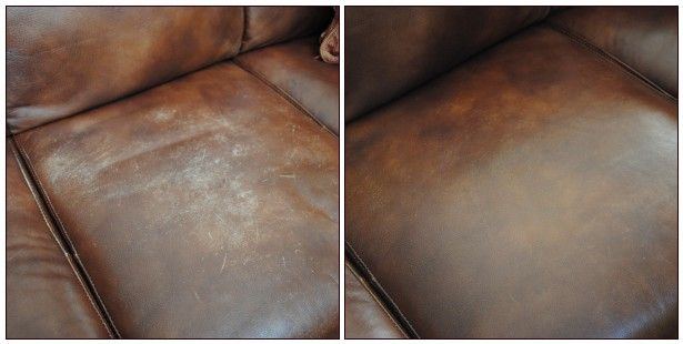 How to fix scarred leather.