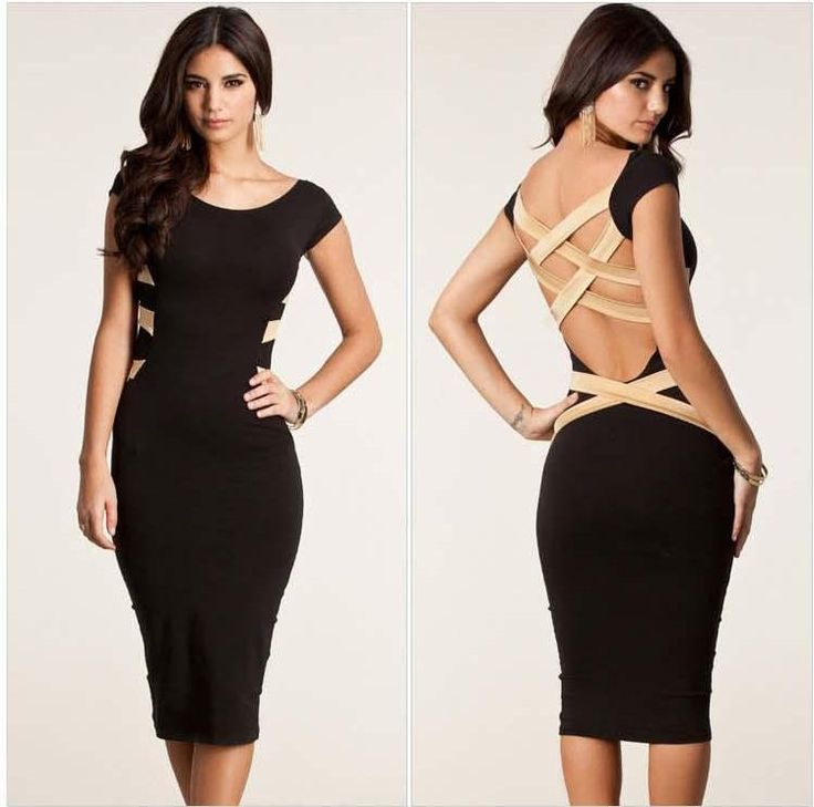 2016 New European Fashion Women Sexy Plus Size Knee Length Criss Cross Back Bodycon Celebrity Party Dress Bandage Dress Floral Dresses For Fall Sale Black Dresses From Cathywang168, $14.77| Dhgate.Com