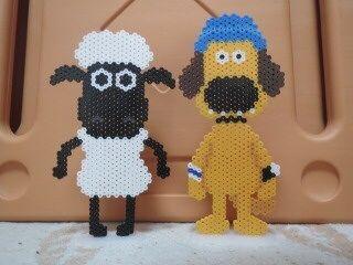 Shaun the Sheep perler beads