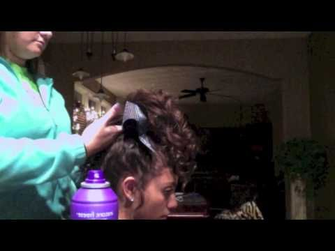 Cheer hair-teased curls - YouTube