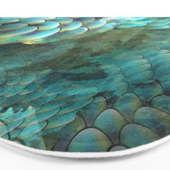 Mermaid Bath Mat Aqua Bath Mat Mermaid Mat Fish Scales Bath Mat
