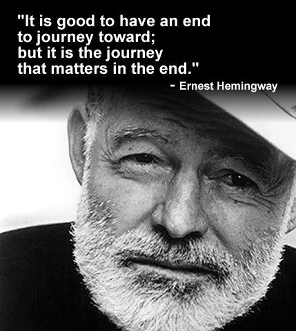 the inspirations of ernest hemingway Ernest hemingway his life was his greatest story - a poster advertising campaign featuring his experiences of blue marling fishing and bullfighting.