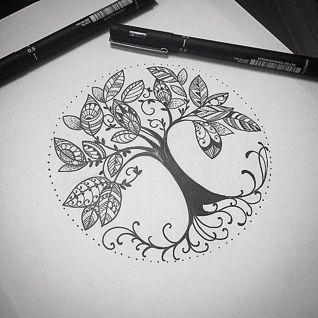 """2,170 Likes, 136 Comments - Kadu Tattoo (@kadutattoo) on Instagram: """"Uma releitura da arvore da vida celta !!! Pra verem significado melhor olhem no google !!!…"""""""