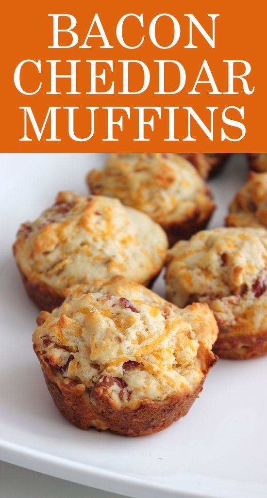 Bacon cheddar muffin recipe. Basically the best breakfast food ever.