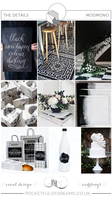 BRIDAL INSPIRATION BOARD #82 ~ Modern, Minimalist Monochrome Wedding Inspiration