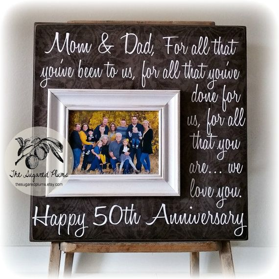 Parents Anniversary Gift 50th Gifts By Thesugaredplums