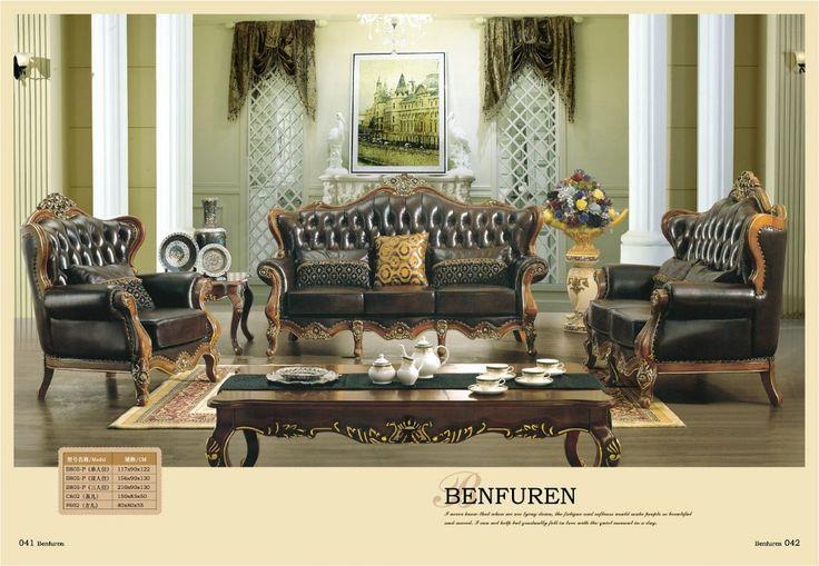 2016 Poltrona Beanbag Oferta Conjunto de Estilo Europeu Antigo Não Muebles Sofás Direto Da Fábrica de Luxo de Couro Genuíno Euro Sofá Clássico(China (Mainland))