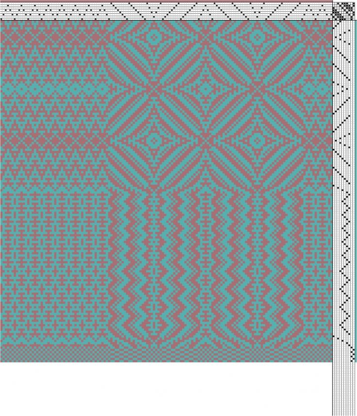 Wool Vest Border Weave Weaving Drafts Pinterest