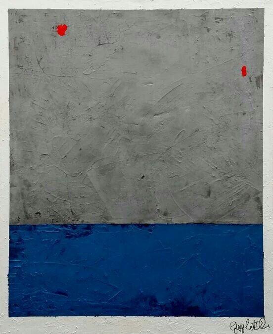 Untitled XIX, sabbia, cemento e acrilico su tela cm 80x100, 2014