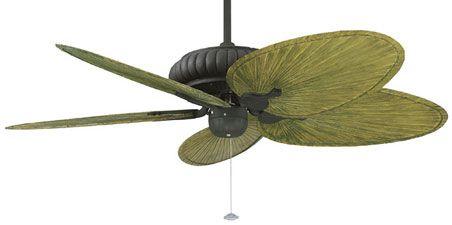 Tropical Ceiling Fan Love Those Green Leaf Blades