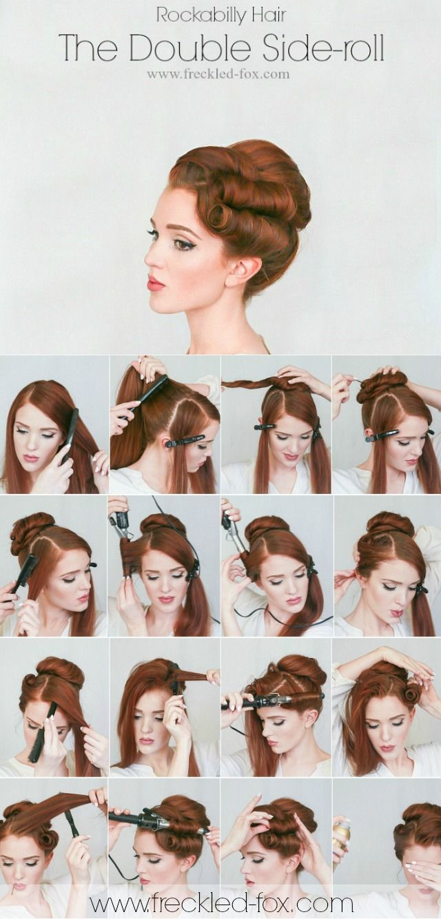 cool Hair Tutorial | The Rockabilly Double-roll by http://www.top10-haircuts.space/hair-tutorials/hair-tutorial-the-rockabilly-double-roll/