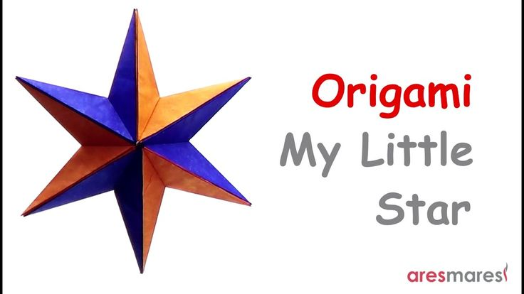 Origami My Little Star (easy - modular)  Make your own little star for Christmas!!!  #origami #star #xmas #unitorigami #handmade #colorful #origamiart #papercraft #paperfolding #paperfold #paperart #papiroflexia #origamifolding #instaorigami #interior #instapaper #оригами #折り紙  #ユニット折り紙 #ハンドメイド #カラフル