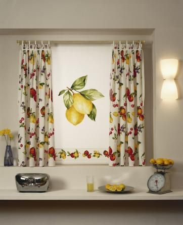 decorating kitchen window curtains with lots of color