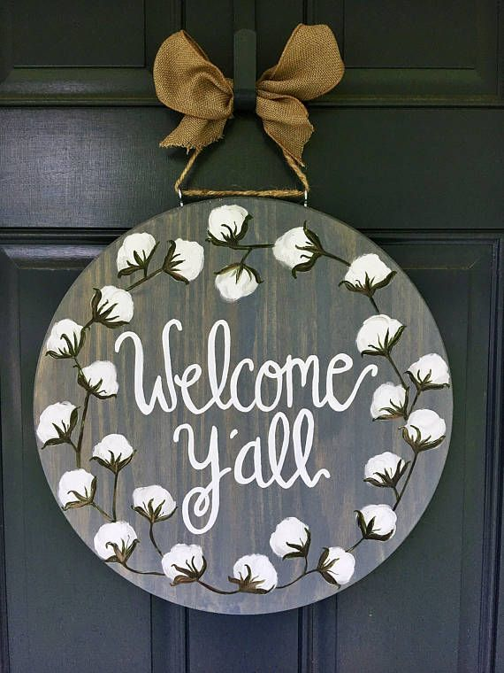 Cotton Door Hanger Cotton Wreath Door Hanger Summer Door