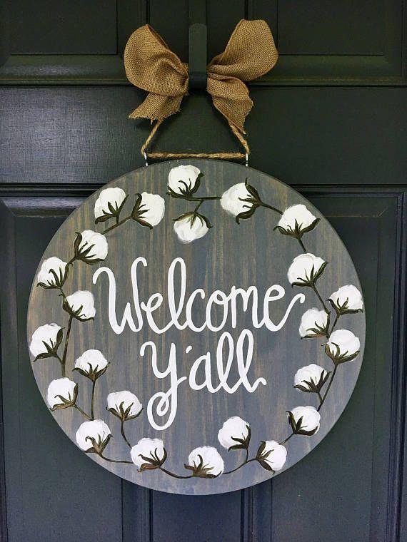Cotton Door Hanger Cotton Wreath Door Hanger Summer Door