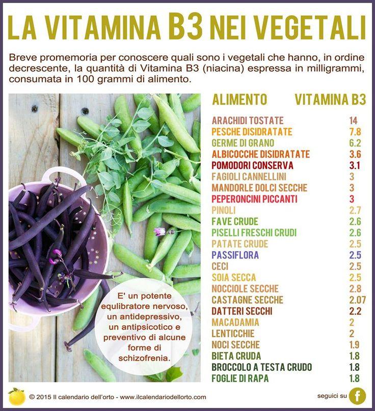 La vitamina B3 nei vegetali
