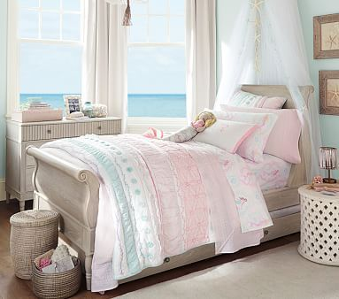 Bailey Ruffle Quilted Bedding #pbkids