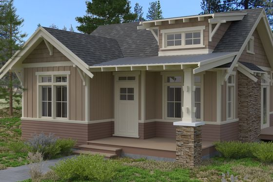 Craftsman style house plan 2 beds baths 999 sq ft for Sip house plans craftsman